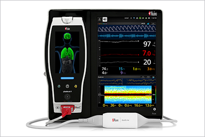 Picture of the Masimo Root which uses SunTech Technology