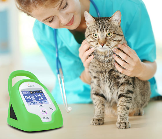 SunTech Vet20 product usage with cat