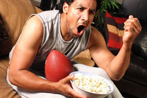 sports fan blood pressure rise