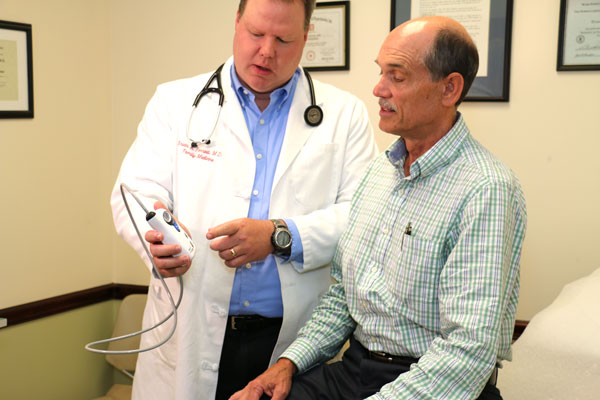 Picture of a ABPM Patient with Doctor