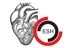 Illustration of the Human Heart with the European Society of Hypertension Logo