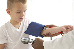 Child Having His Blood Pressure Measured
